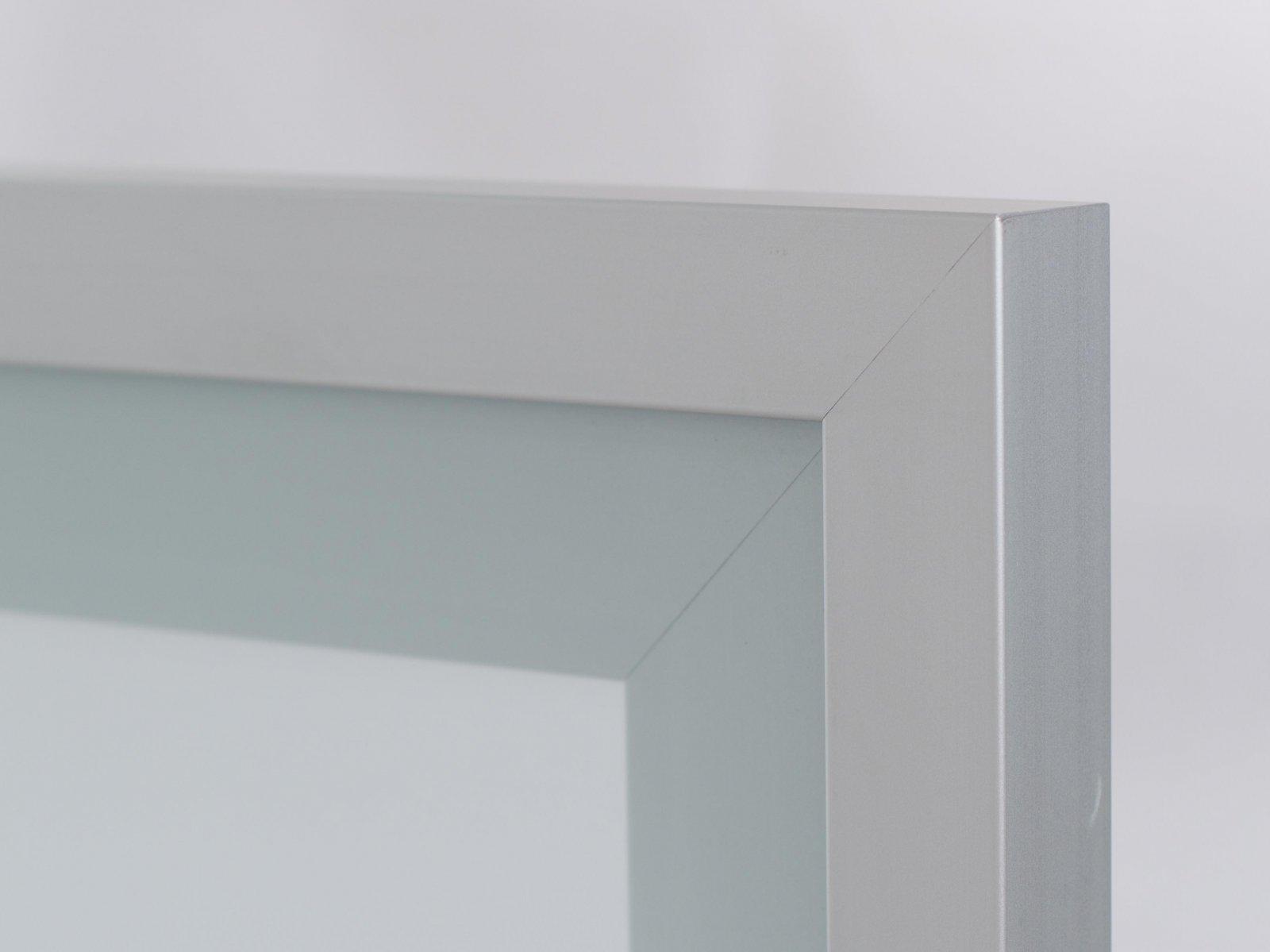 Porta-12 (Perfil V09 mate + vidro fosco)